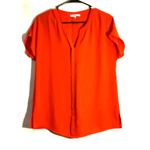 Ro & De Orange short sleeve blouse Small